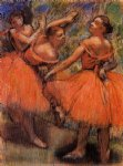 edgar degas red ballet skirts painting 35596