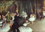 rehearsal on the stage by edgar degas painting