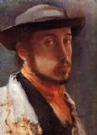 edgar degas self portrait in a soft hat painting 35416