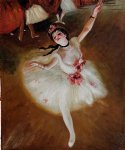 edgar degas star dancer on stage painting