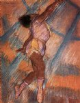study for la la at the cirque fernando by edgar degas painting