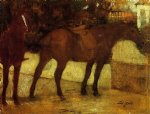 edgar degas study of horses painting