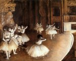 edgar degas the ballet rehearsal on stage painting 35443