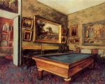 the billiard room at menil by edgar degas painting