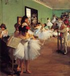 edgar degas the dance class ii painting