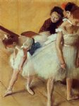 the dancing examination by edgar degas painting