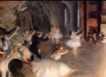 edgar degas the rehearsal on stage paintings