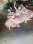edgar degas three ballet dancers painting 35476