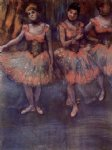 edgar degas three dancers before exercise painting