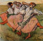 edgar degas three russian dancers painting