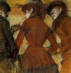 edgar degas three women at the races painting