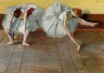 two ballet dancers by edgar degas painting