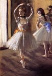 edgar degas two dancers in the studio ii painting