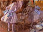 edgar degas two dancers in their dressing room painting