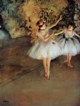 edgar degas two dancers on stage painting-35507