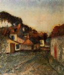village street by edgar degas painting
