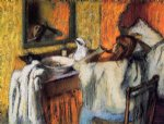woman at her toilette 5 by edgar degas painting