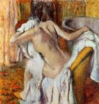 woman drying herself i by edgar degas painting
