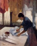 woman ironing ii by edgar degas painting