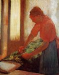 woman ironing by edgar degas painting