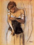 edgar degas woman touching her arm paintings-35569