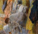woman washing her feet by edgar degas painting