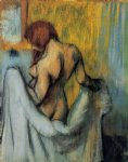 edgar degas woman with a towel paintings-35574