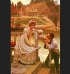 courtship by edmund blair leighton painting