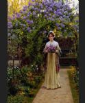 lilac by edmund blair leighton painting