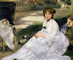 edouard manet in the garden painting