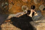 edouard manet lady with fans portrait of nina de callais painting