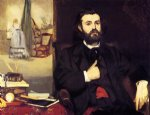 portrait paintings - portrait of zacharie astruc by edouard manet