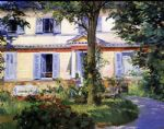 the house at rueil 2 by edouard manet painting