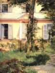 the house at rueil by edouard manet painting
