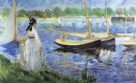 edouard manet the seine at argenteuil art