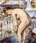 woman in a tub by edouard manet painting