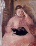 edouard manet woman with a cat portrait of madame manet painting 35120