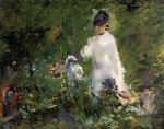edouard manet young woman among the flowers painting 85904