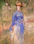 edouard manet young woman in the garden i painting