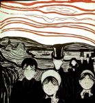 anxiety by edvard munch painting