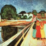 at the bridge by edvard munch painting
