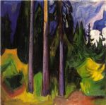 forest by edvard munch painting