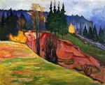 from thuringewald by edvard munch painting