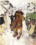 horse paintings - horse galloping 1912 by edvard munch