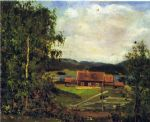 landscape  maridalen by oslo by edvard munch paintings-80210