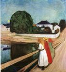 edvard munch the girls on the bridge painting