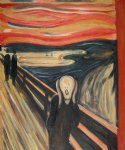 the scream ii by edvard munch painting
