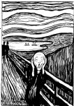 the scream white and black by edvard munch painting