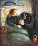 the sick child by edvard munch painting