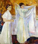 two nurses by edvard munch painting